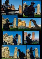 Jul&Gaux SerialHikers autostop hitchhiking aventure adventure alternative travel voyage volontariat volonteering Pisa fun tour tower