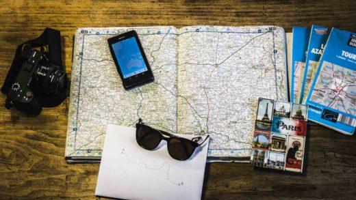 comment organiser son voyage carte map organisation