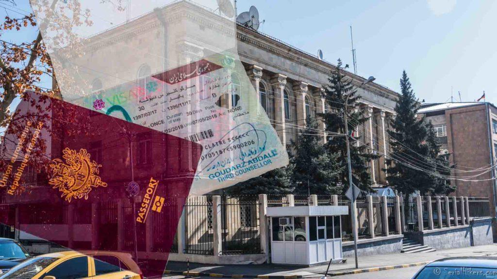 SerialHikers stop autostop world monde tour hitchhiking aventure adventure alternative travel voyage sans avion no fly visa iran armenie armenia embassy ambassade