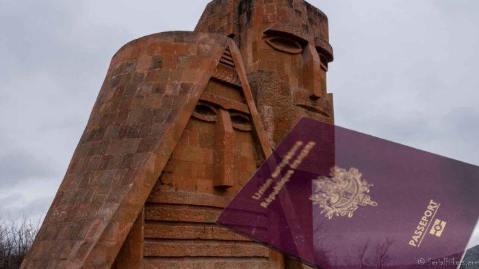 backpacking Jul&Gaux SerialHikers autostop hitchhiking aventure adventure alternative travel voyage volontariat volonteering caucase armenia armenie Stepanakert Karabagh VISA
