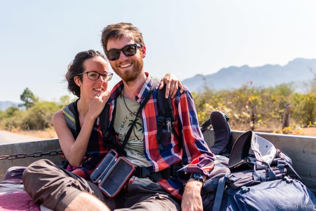 backpacking Jul&Gaux SerialHikers stop autostop world tour hitchhiking aventure adventure alternative travel voyage volontariat volonteering roadtrip laos