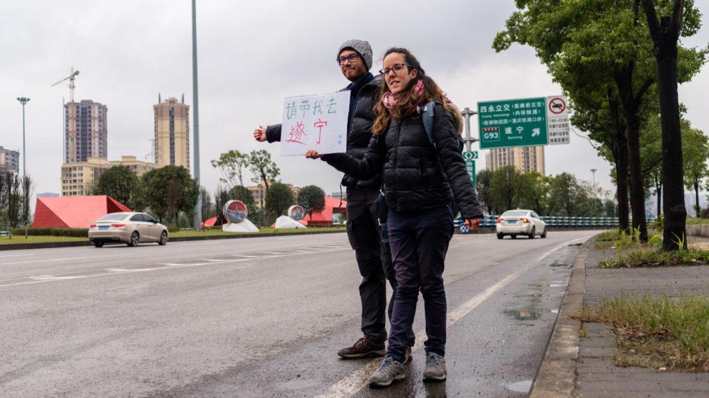 Chongqing chine autostop